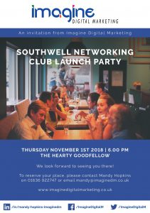 Southwell Business Networking Club launch party flyer November 2018