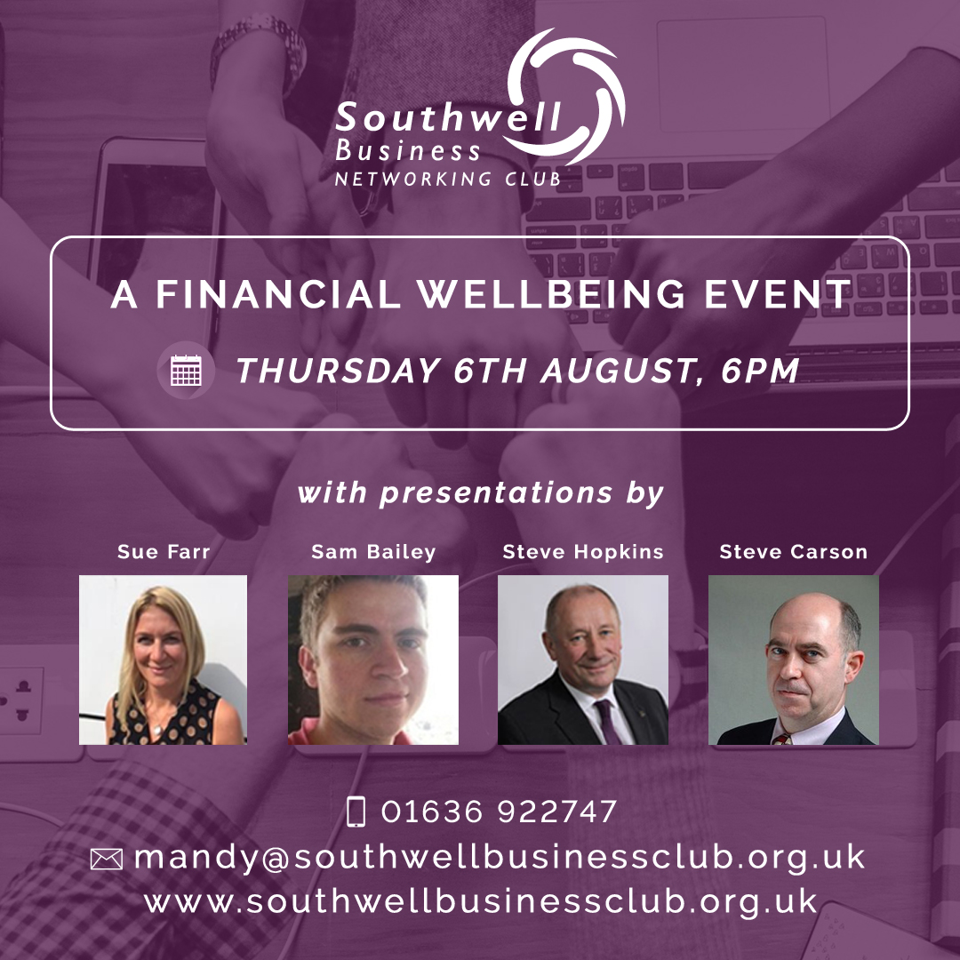 Southwell Business Club, Financial Wellbeing Event, August 2020